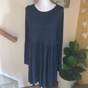 Urban outfitters blue sweater dress size Large NWT